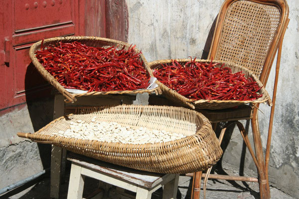 Drying chili - Dali Old Town
