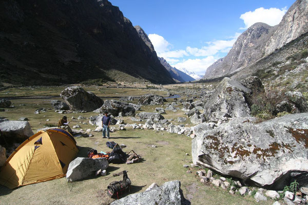 Camp at Santa Cruz Trek - Cordillera Blanca