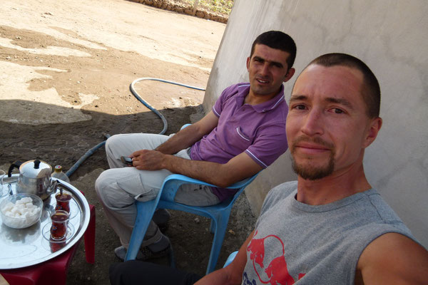 Hueseyin and me near Cizre - Turkey