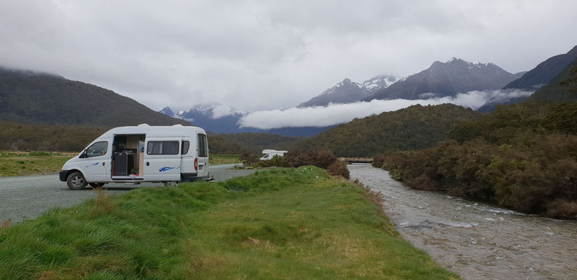 Cascade Creek Campsite - Fiordland Nationalpark - South Island