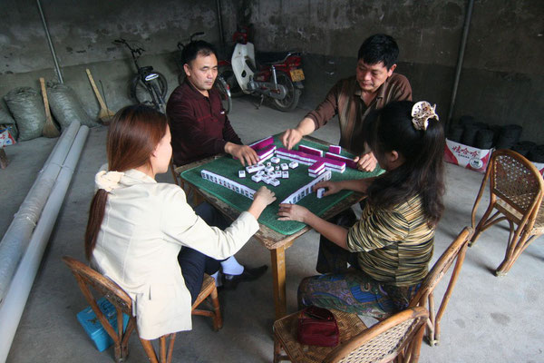 Old chinese table game Mah-Jongg - Yunnan Province