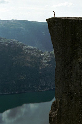 Preikestolen - towering 604 m over Lysefjorden