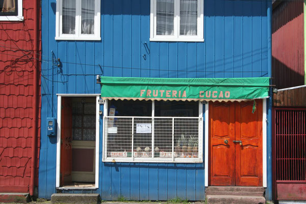 Housefront in Castro - Isla Grande de Chiloé