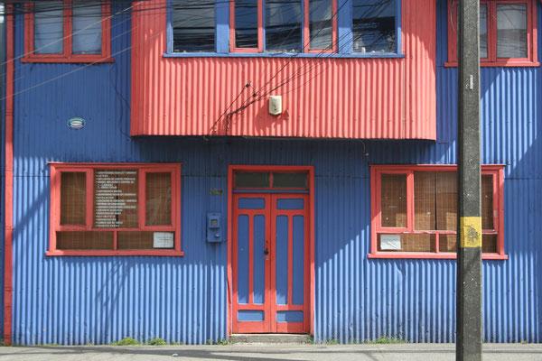 Housefront in Castro - Isla Grande de Chiloé