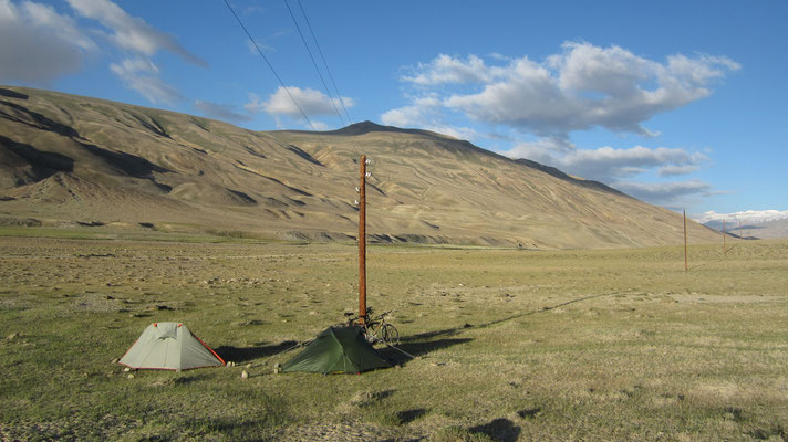 Camp spot south of Hargus Pass 4,344 m - Tajikistan
