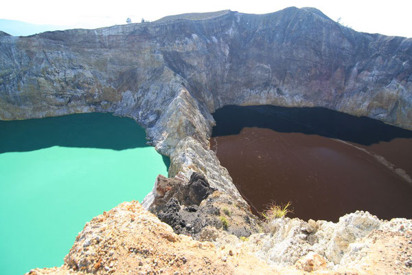 Differently coloured Mount Kelimutu Volcano - Eastern Flores