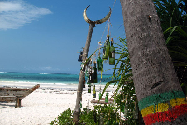 Beach bar south of Matemwe Beach - Zanzibar Island