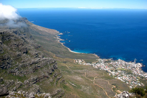 Atlantic Ocean - View from Table Mountain 1,087 m