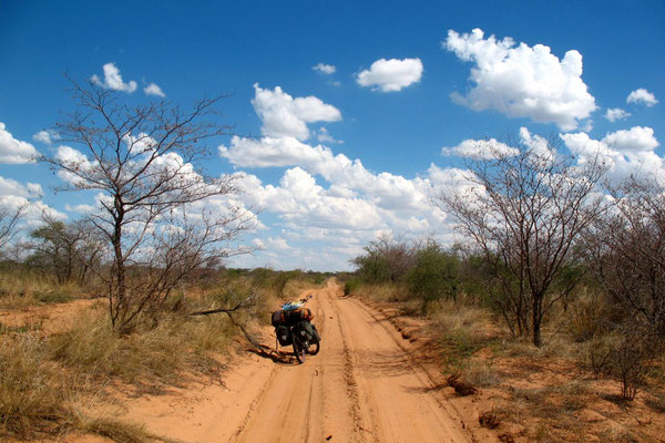 Track to Dqae-Qare Game Farm - Kalahari Desert