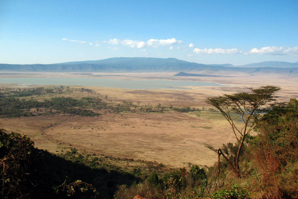Leaving Ngorongoro Crater