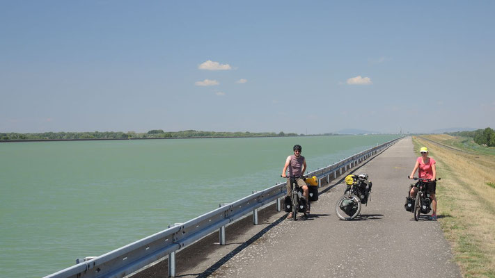 Cycling the Danube River east of Bratislava - Slovakia