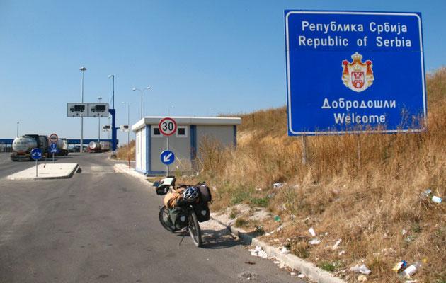 Entering Serbia