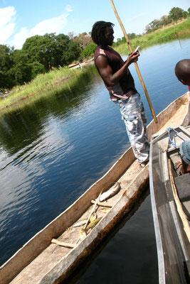 Man in Mekoro - Okavango Delta