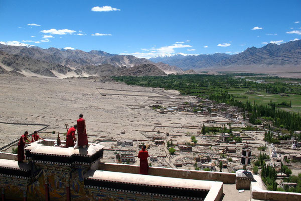 Monks at Thiksey Gompa - Indus Valley - Ladakh