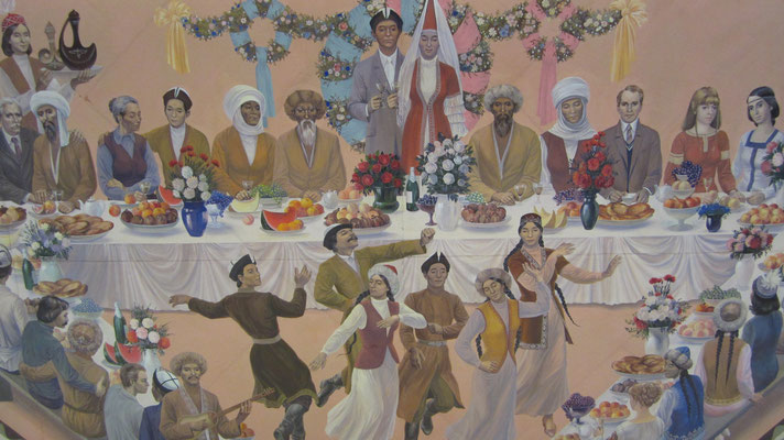 Ceiling paintings at State Historical Museum - Bishkek - Kyrgyzstan
