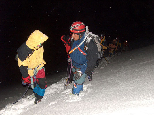 Starting to climb at midnight - Huayna Potosi - Cordillera Real