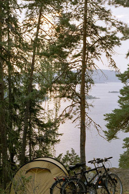Camp at Steinsfjorden - North of Oslo - Southeastern Norway