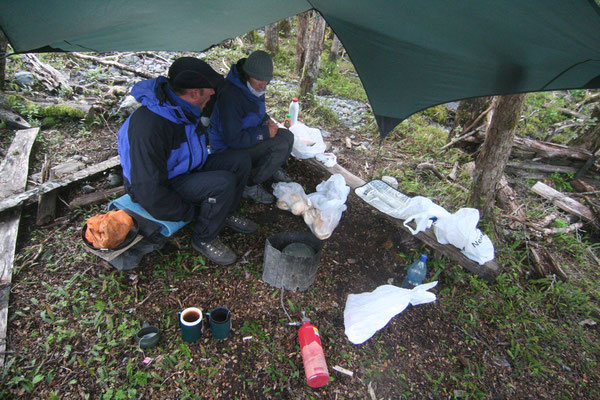 Camp north of Villa O´Higgins - Southern Carretera Austral