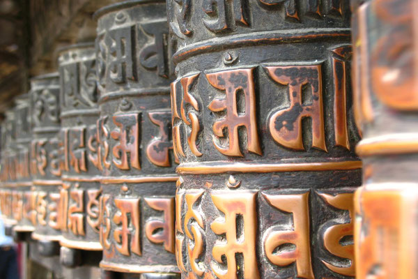 Tibetan prayer wheels - Swayambhunath Stupa