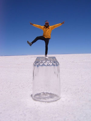 Dancing on a glass - Salar de Uyuni
