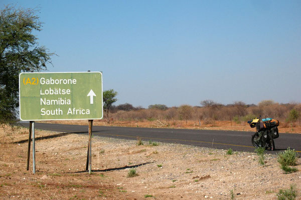 Heading for Namibia - Trans Kalahari Highway