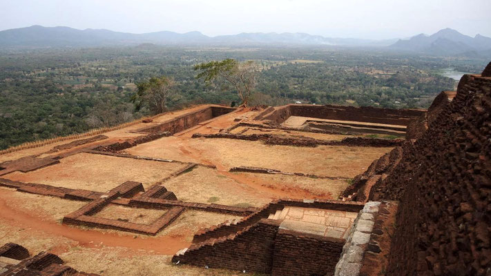 Terraced top of Sigiriya - Central Sri Lanka