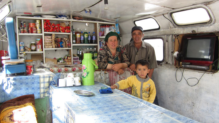 Tea stall close to Anzob Tunnel - Tajikistan