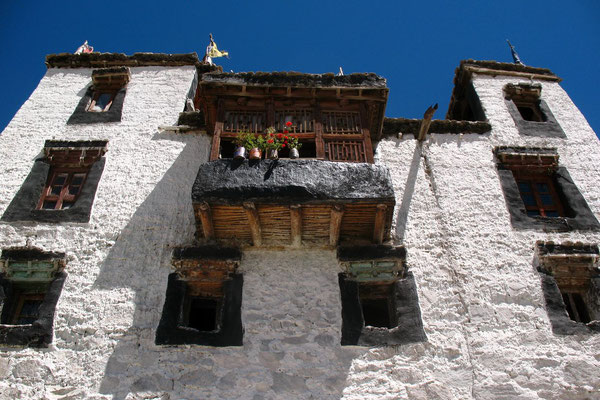Housefront at Thiksey Gompa - Indus Valley - Ladakh