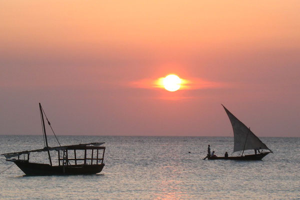 Sunset at Indian Ocean - Zanzibar Island