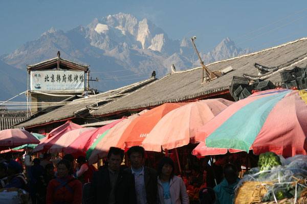 5,500 m high Yulong Xueshan Mountain - Lijiang