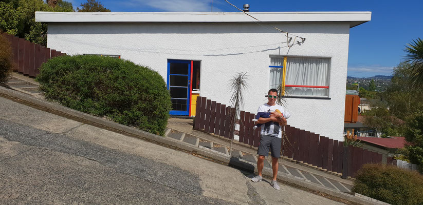 Baldwin Street - The world´s steepest street - Dunedin