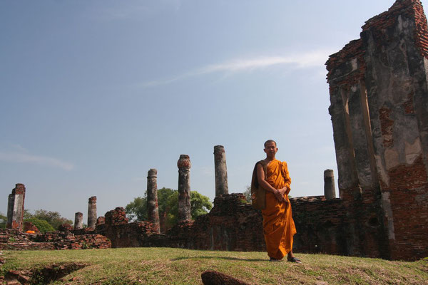 Monk at Ayutthaya