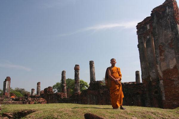 Monk at Ayutthaya