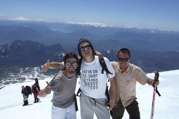 Steven, Szephen and me - Volcano Villarica