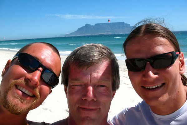 Me, Leonard and Andre at Blouberg Beach