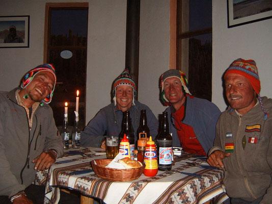 Me, Jeannette, Gerrit and Harald - Isla Incahuasi
