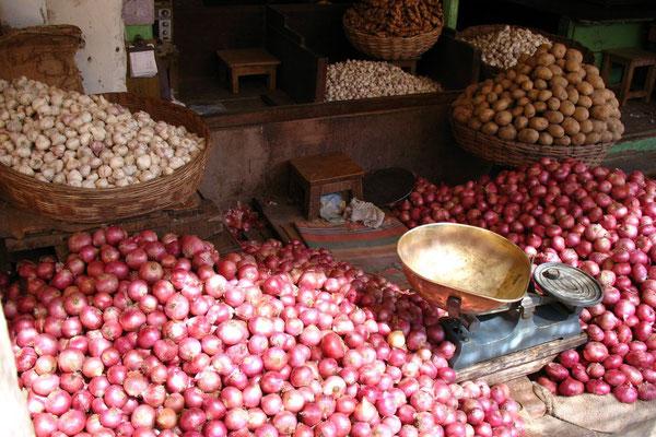 Onions at Devaraja Market - Mysore - Karnataka