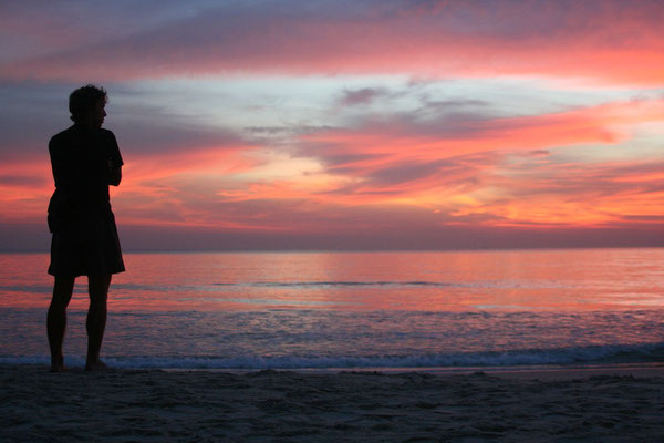 Terry watching sunset - Ochheuteal Beach - Sihanoukville