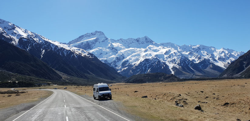 Road to Mount Cook Village - South Island