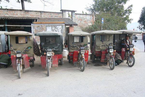 Chinese Tuk-tuks - Yunnan Province