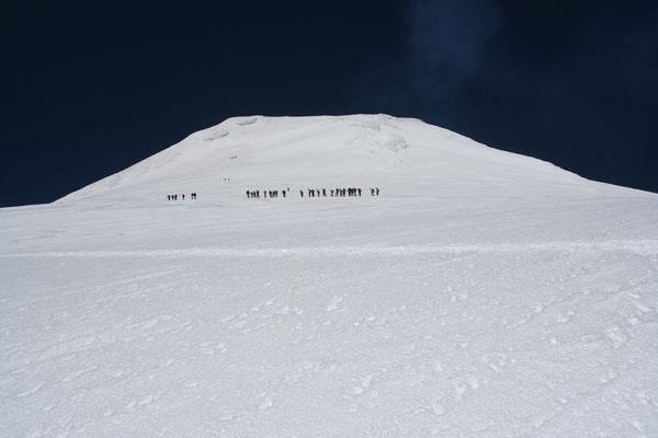 Volcano Villarica summit at 2,841 m - Pucon