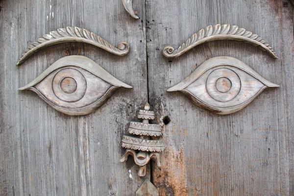 Wooden door at Hanuman Dhoka - Kathmandu