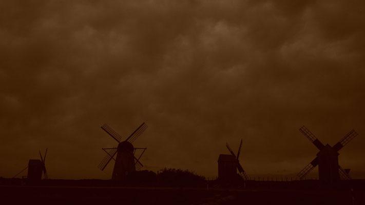Angla Windmill Hill - Saaremaa Island - Estonia
