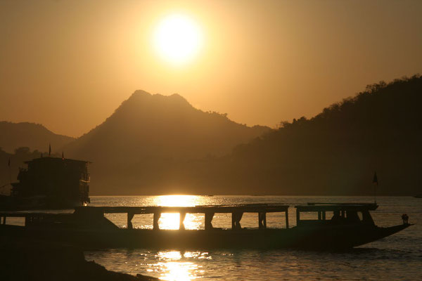 Sunset at Mekong River - Luang Prabang