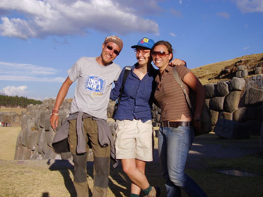 With Jutta and Nathalie at Sacsayhuaman - The Sacred Valley