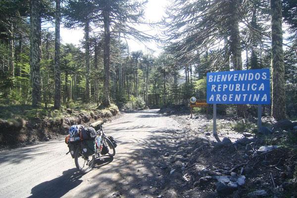 Entering Argentina - Paso Mamuil Malal - Western Argentina