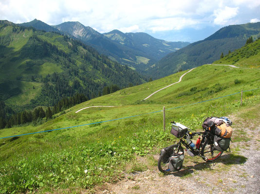 Cycling Furkajoch Pass 1,760 m - Vorarlberg - Austria