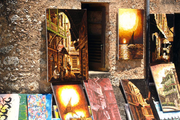 Paintings on offer - Stone Town - Zanzibar