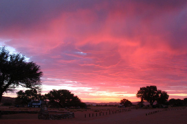 Sunset at Sesriem Camp Site - Namib Desert