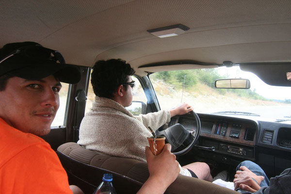 Luis, Andre and Christian giving me a ride - South of Rio Grande